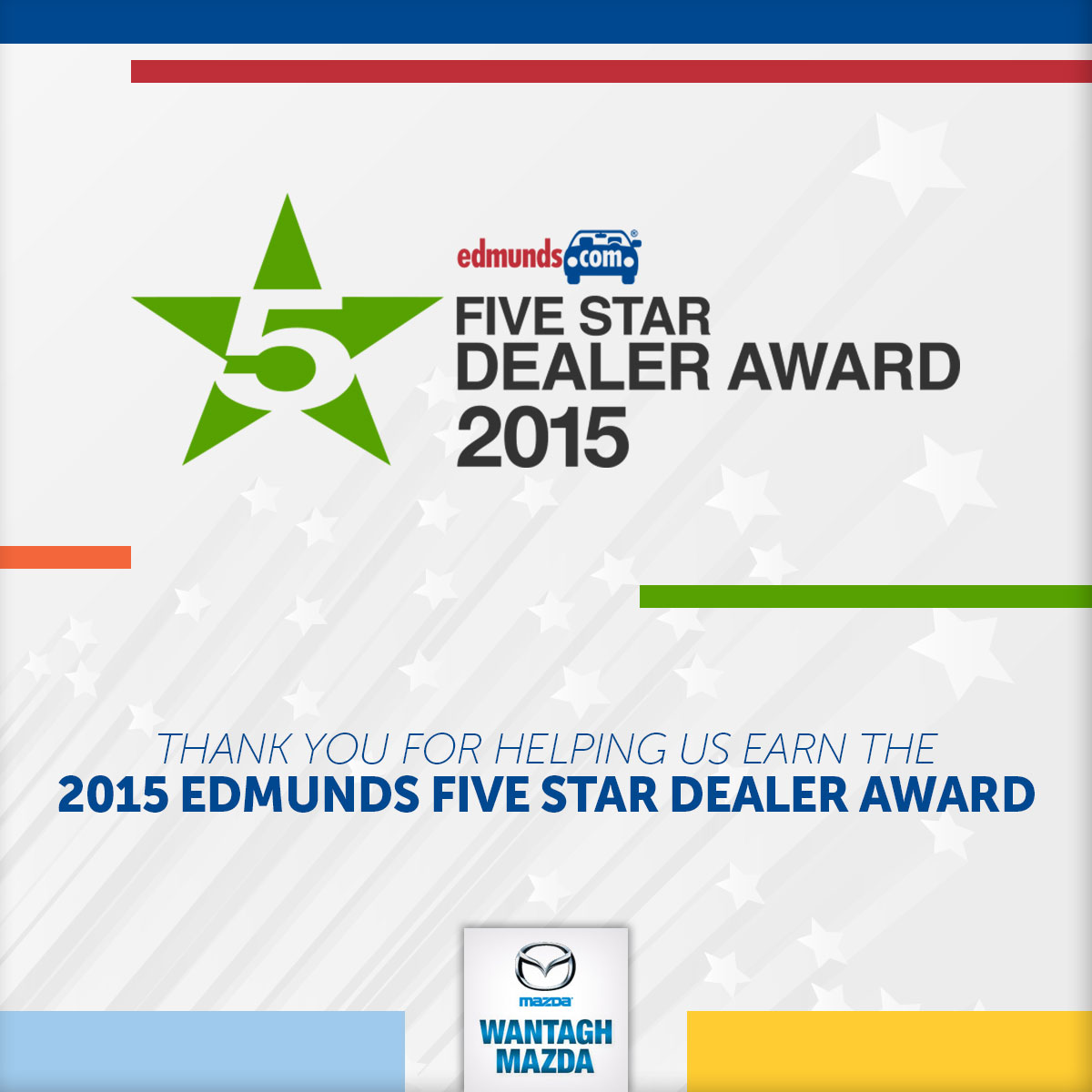 2015 Edmunds Five Star Dealer Award