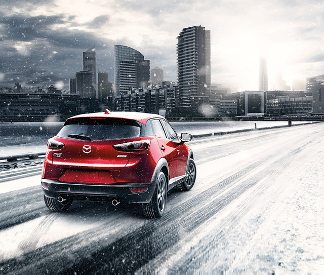 prepare your Mazda for cold weather - snowy 2017 Mazda CX-3 in Wantagh, NY
