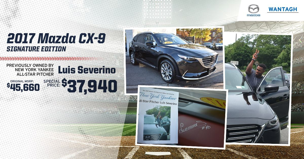 Yankee Pitcher Luis Severino's CX-9 On Sale Now at Wantagh Mazda